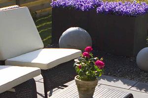 betonfliser i haven