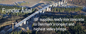 Ready mix concrete to valley brigde Funder ådal