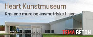 Betonvægge ved Heart museum