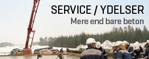 Service og ydelser i forbindelse med beton