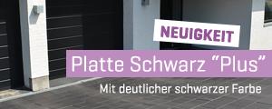 """Platte Schwarz """"Plus"""""""