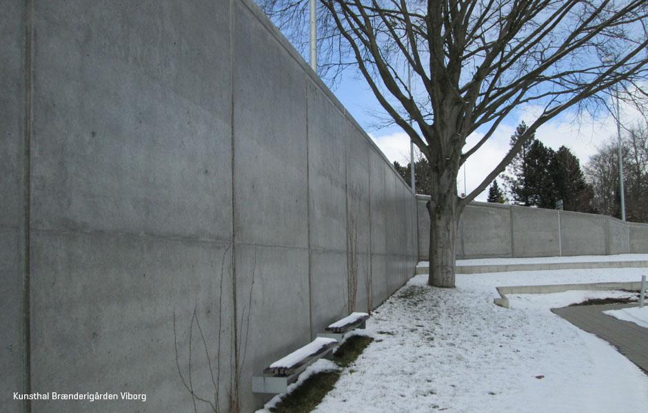udendørs betonvægge