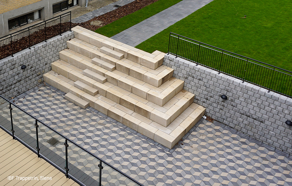 Kæmpestor Trappetrin i beton. Stort udvalg | IBF JL65