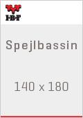 IBF Spejlbassin 140 x 180