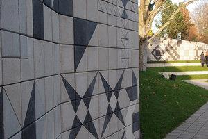 Betonfliser som pynt til væg
