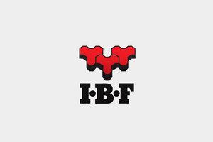 Stort IBF logo med grå baggrund