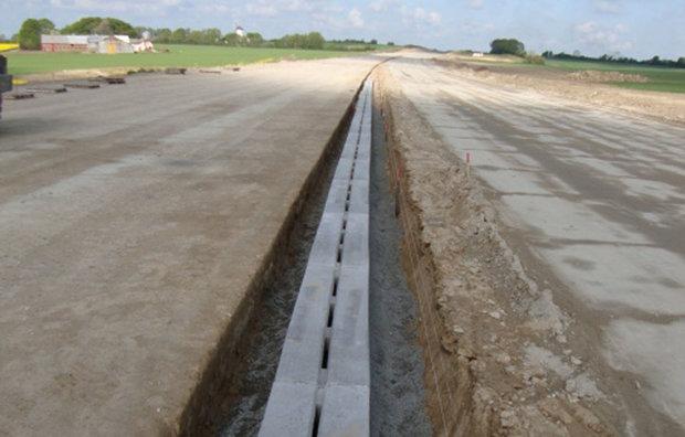 Kanal til afvanding i beton