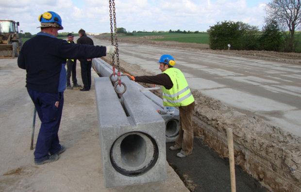 Afvandingskanal i beton