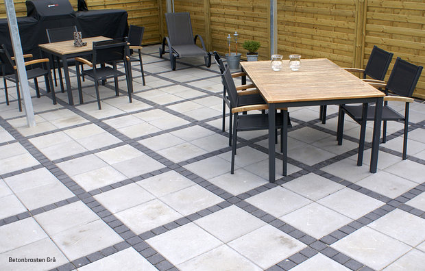 Concrete cobblestone grey 6