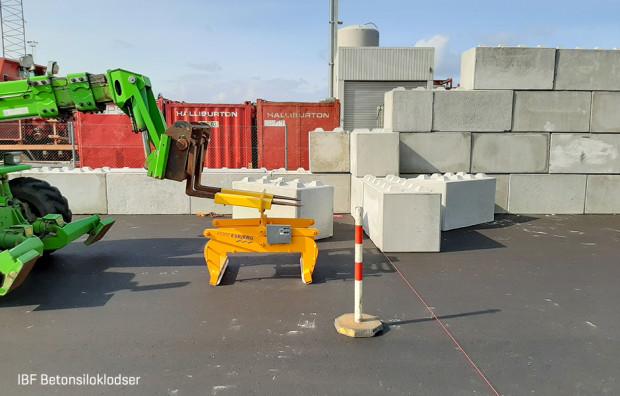 Betonsiloklodser Esbjerg Havn