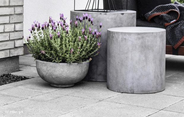 Betonfliser, grå