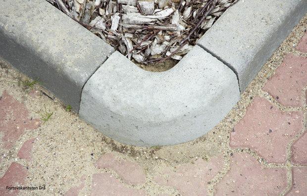 Sidewalk curbs grey 2