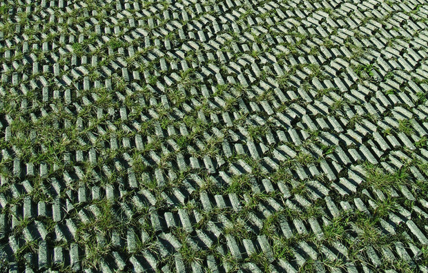 Græsarmeringssten parkeringsplads
