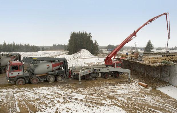Pumpning af beton med betonkanon